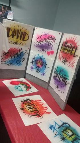 Airbrushed T Shirts Set Up