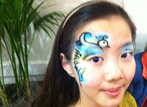 Airbrush Face Painting Bird